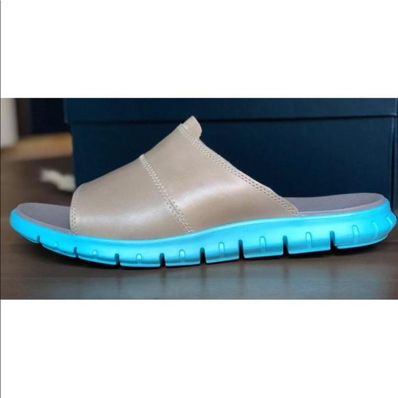 fdf69289a5c95 Men's Cole Haan Zerogrand Leather Slide Sandals NWT